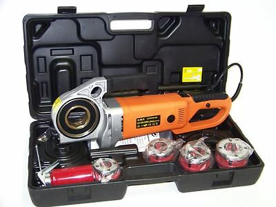 "HD 2000W Portable Electric Pipe Threader 4 Dies Threading Machine 1/2"" to 1-1/4"""