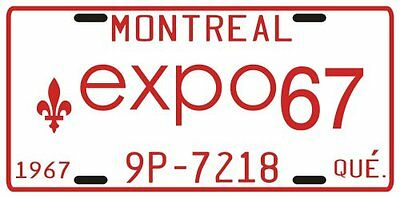 Montreal Canada Expo 67 License plate