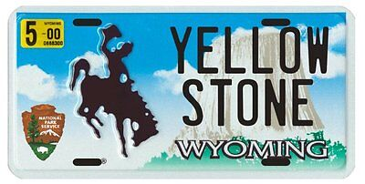 Yellowstone National Park 2000 Wyoming License plate
