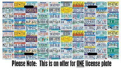 All 50 U.S. states License plate car tag