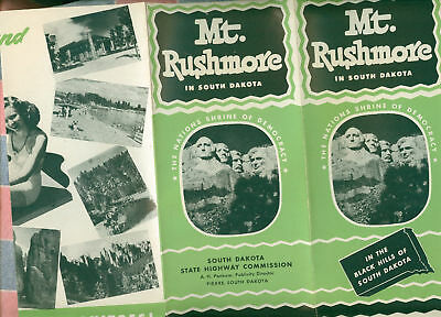 Old Pamphlet Mt. Rushmore in South Dakota Great Graphic