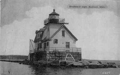 Rockland Me Breakwater Lighthouse P/c