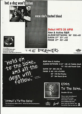 THE KINKS & Borrowers Bone Trade Ad POSTER for 1996 CD