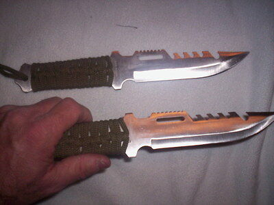 2 Hunting Camping fishing SURVIVAL Knives Hiking Scout