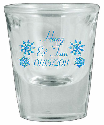 144 Personalized Glass 1oz Wedding Favor Shot Glasses