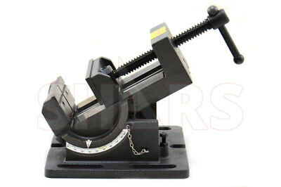 Shars 4-1/4 Precision Drill Press Tilting Tilt Vise Horz Vert New