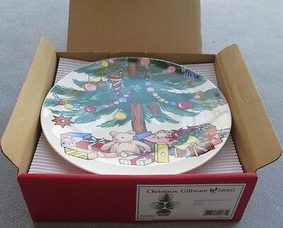 Set of FOUR Nikko Christmastime Accent Salad Plates New in Box