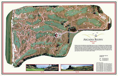 Arcadia Bluffs Golf Course -1999- Henderson/Smith - a VintageGolfCourseMap