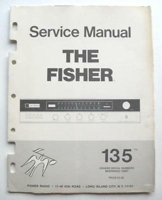 Fisher Model 135 Am/fm Stereo Receiver Service Manual