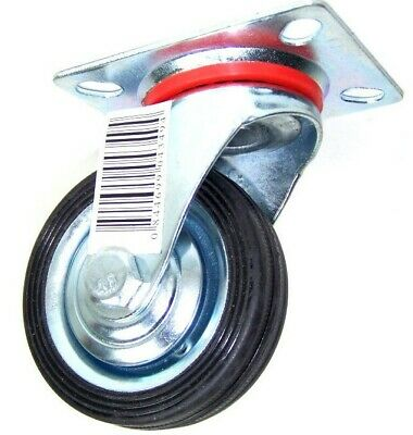 """12pc 3"""" Swivel Caster Wheels Top Base with Steel Ball Bearings Hard Rubber tire"""