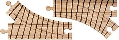 WOODEN TRAIN PAIR OF TRACK SWITCHES Toy -fits Brio Thomas Realistic Lines NEW