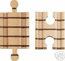 ADAPTER TRACK 2pc -fits most wooden train railroad toys