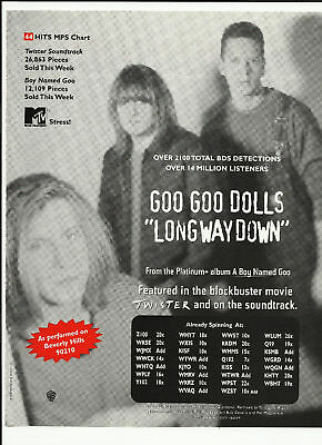 GOO GOO DOLLS Long Way Trade Ad POSTER for Boy Named CD