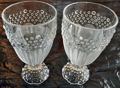 New~Gorham Crystal~Pair Of Water Goblets~Free Shipping