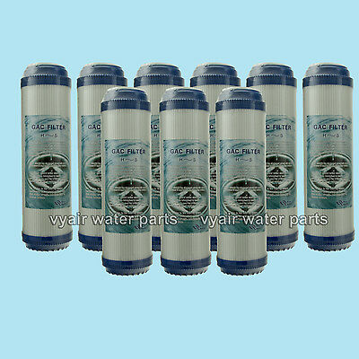 """9x REVERSE OSMOSIS 10"""" GAC GRANULAR ACTIVATED CARBON WATER FILTERS"""