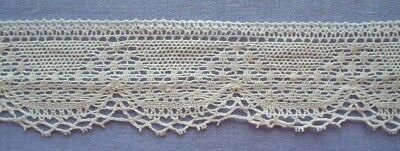 30mm Cream Cotton Lace (Fine) (x 2 metres)