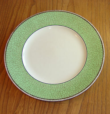Booths Breakfast Plate Pair - CEYLON IVORY - GREEN (OLD IVORY)