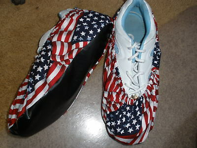 American Flag Print Bowling Shoe Covers-Med, Lg - Xl