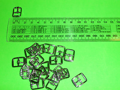 "10mm SILVER COLOURED BUCKLE SQUARE ""( IN AUSTRALIA )"""