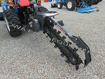 """Bradco 612 Tractor 3Pt Trencher,48""""x6"""" TESChain:FreeShp'g-See Det's! 1Only@This$"""
