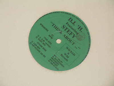 "12"" Mix Italo Dance D.j. H Feat.stefy Think About 4 Tr."