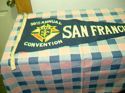 Old Felt Pennant Knights Columbus 1921 Convention San Francisco