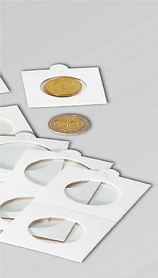100 SELF ADHESIVE COIN HOLDERS 25mm - TO FIT SHILLING