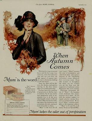 "1925 Mum Ad / ""mum"" Is The Word!  When Autumn Comes..."