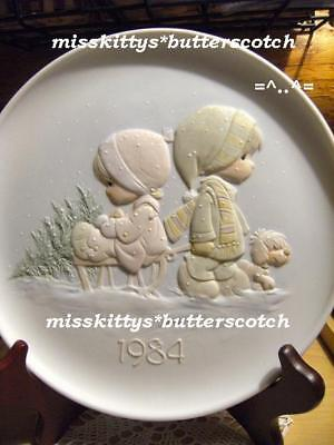 Precious Moments~PLATE~E5396~DATED 1984~V=$55~SLED~crs