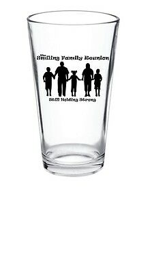 96 - 15oz Glass Personalized Family Reunion Pint Glass