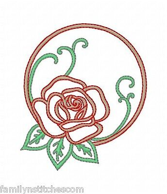 FSL Roses Circles 10 Machine Embroidery Designs on multi-formatted CD