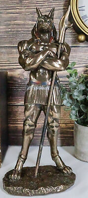 Ancient Egyptian Deity God Anubis With War Staff Statue God Of Afterlife Mummy