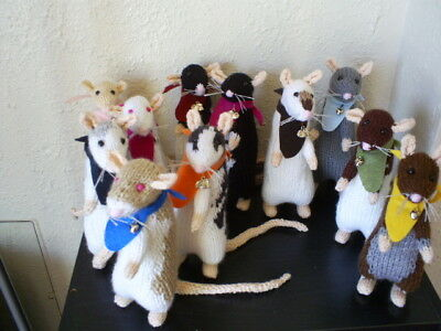 Hand Knitted-CUTE*PET RAT*-gift-collectible-All colours