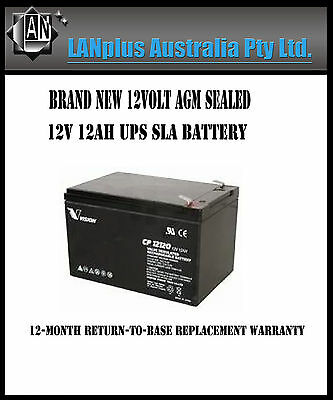 Brand New Vision 12V 12AH UPS SLA Battery 12Volt AGM Sealed Lead Acid CP12120