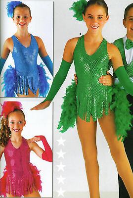New Tap Costume Faux Sequin Feathers 3 Colors Ch/adult