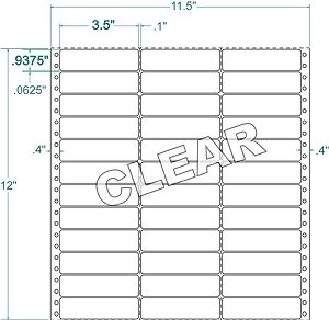"""3-1/2"""" x 15/16""""  Special Material Mailing Labels"""