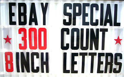 "8"" Outdoor Portable Marquee Changeable Sign Letters 300"