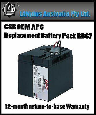 CSB OEM APC Replacement Battery Pack RBC7 for APC DLA1500 SMT1500 750XL Genuine