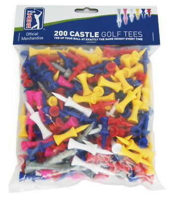 PGA TOUR 200 Castle Golf Tees - 6 Types 31mm to 70mm
