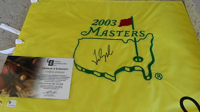 Masters Fred Couples Signed Masters Flag 2003 Global