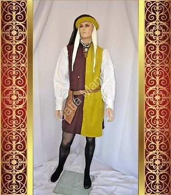 Medieval Dress Costume Designer Italian Made in Italy Figurante Medievale NUOVO