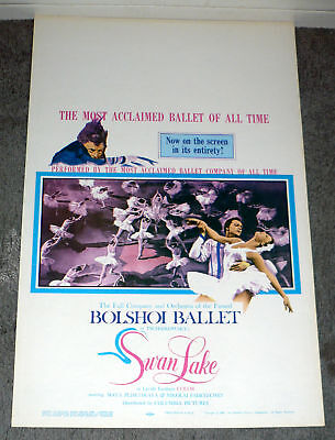 SWAN LAKE original 1960 movie poster BOLSHOI BALLET rolled
