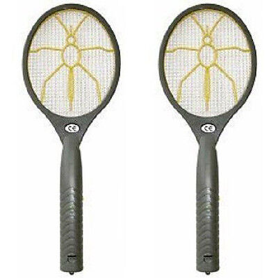 2 Pieces Electronic Electric Fly Wasp Catcher Swatter Zapper Bat Pest Control