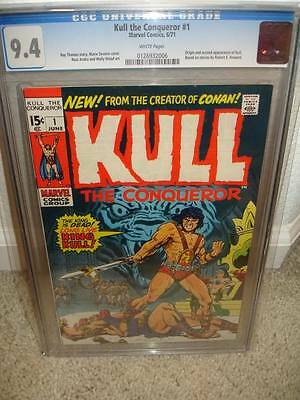 Kull the Conqueror #1 CGC 9.4 1971 Marvel Investment cm