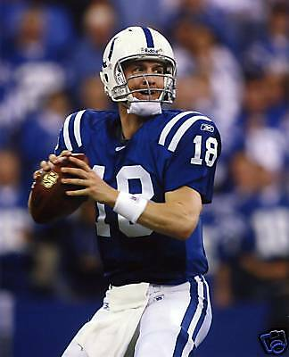 Peyton Manning Indianapolis Colts 8X10 Sport Photo #40