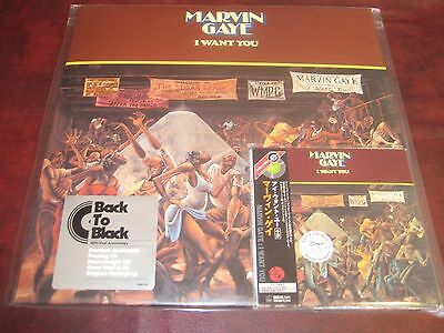 Marvin Gaye I Want You Japan Obi Replica W/ 3 Bonus Sealed Cd + 180 Gram Vinyl