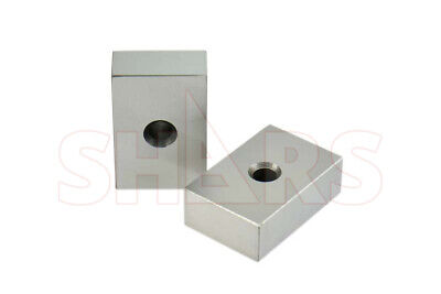 PAIR 123 BLOCKS 1-2-3 ULTRA PRECISION ONE HOLE HARDENED Matched 23 Holes