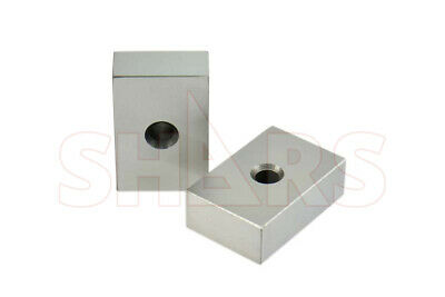 Shars Matched Pair Precision 1-2-3 123 Block One Hole Machinist New