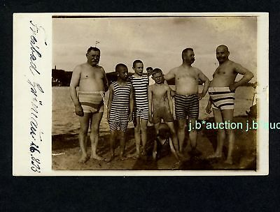 VÄTER&SÖHNE BADEN / FATHERS&SONS in TRUNKS Vintage RPPC