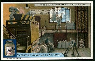 Bagging Wheat Flour Mill NICE Vintage  1920s Card
